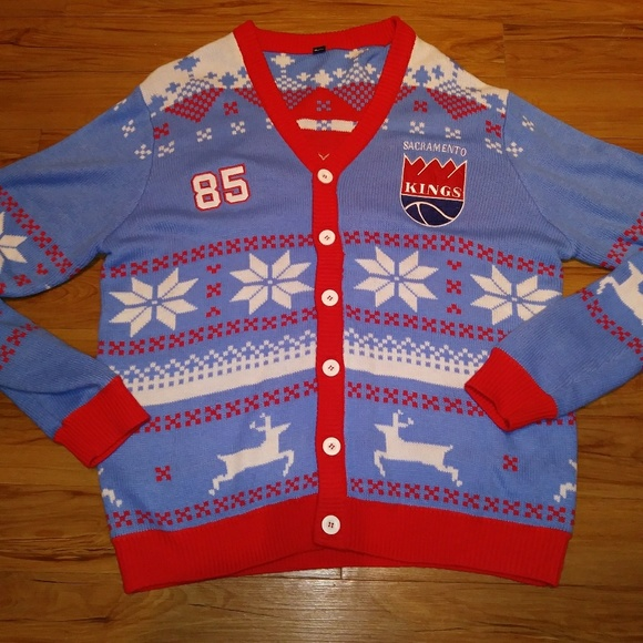 newest 98902 9d58c NWOT SACRAMENTO KINGS NBA UGLY CHRISTMAS SWEATER V